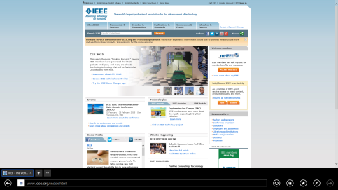 Figura 1. Ueb faqja e IEEE-së