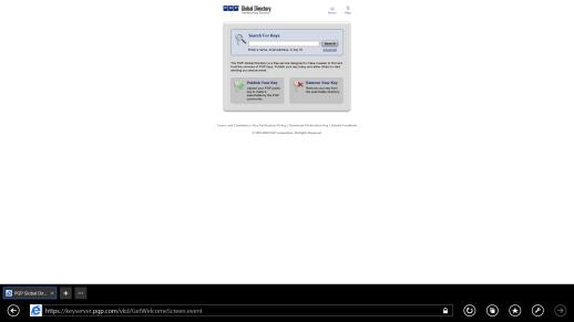 Figura 2 - PGP Global Directory për verifikimin e çelësave