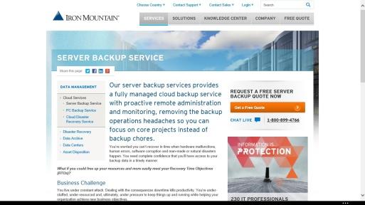 Figura 2: Shërbimi Server Backup