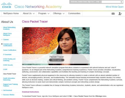 Figura 3. Si ta shkarkoni Cisco Packet Tracer? (Netacad, 2015)