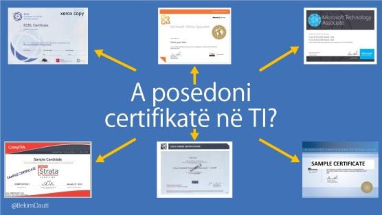 Figura 1. Figura 1. Disa nga certifikatat në TI
