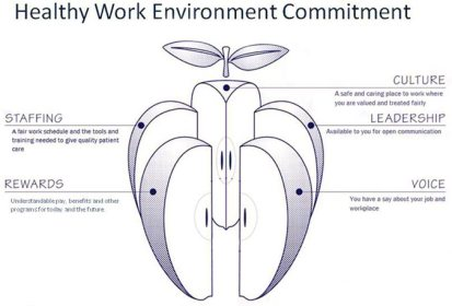 Figura 1. Angazhimi për një mjedis pune të shëndetshëm (Lakeview Hospital, 2015)