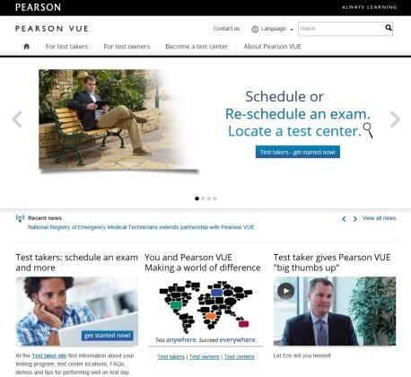 Figura 3. Sajti i uebit të PearsonVUE për regjistrim të provimeve të certifikimit në TI