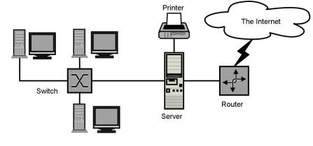 Figura 2. Rrjeti i hapësirës lokale (Wikipedia, 2015)