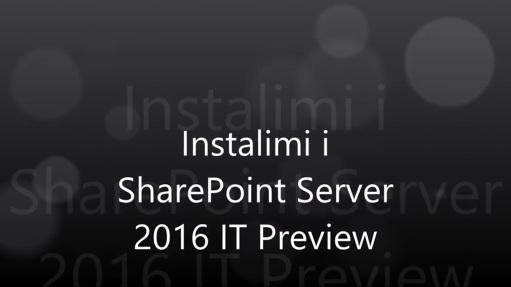 Instalimi i SharePoint Server