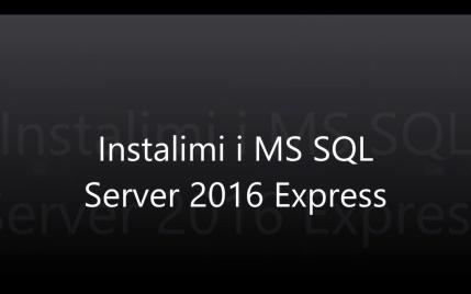 Instalimi i SQL Server