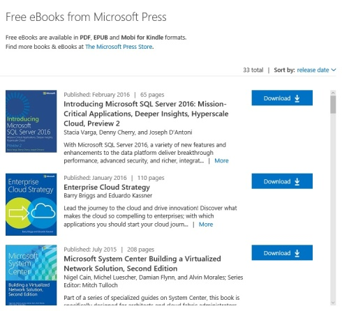 Microsoft free eBooks