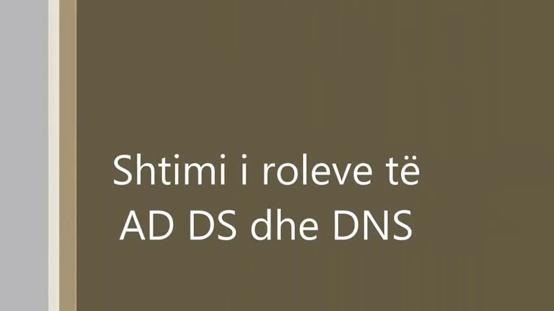 Shtimi i roleve AD DS dhe DNS në Win Srv 2012