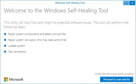 Windows 10 Self-healing Tool