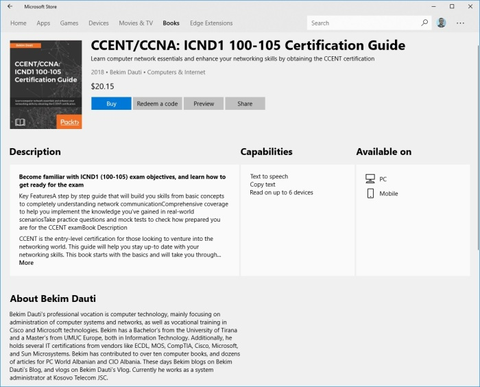 Ccentccna Icnd1 100 105 Certification Guide Is Now Available On